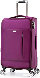 YUMILI Oxford Cloth Suitcase Zipper Suitcase Commerce Waterproof Portable Boarding Luggage Suitcase Business Travel (Color : Purple, Size : 24inch)