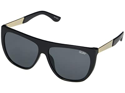 QUAY AUSTRALIA Drama By Day (Black/Smoke) Fashion Sunglasses