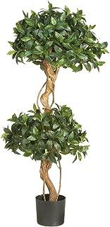 Nearly Natural 5233 Sweet Bay Double Ball Topiary Silk Tree, 4-Feet, Green