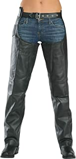 Xelement 7553 Women's Black Advanced Dual Comfort Leather Chaps - 6