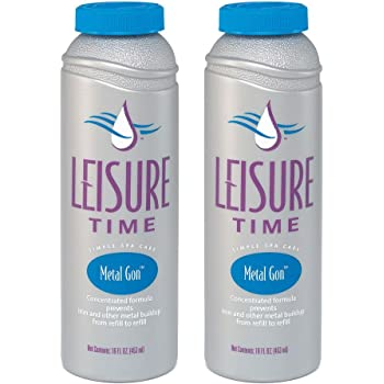 Leisure Time D-02 Metal Gon for Spas and Hot Tubs, 1-Pint, 2-Pack