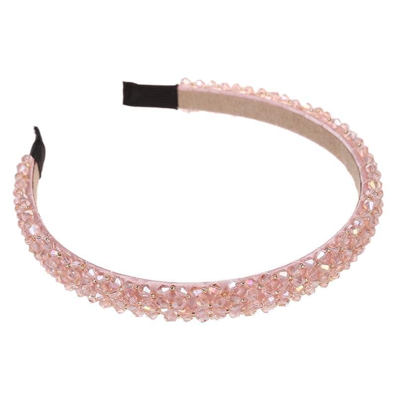 審判写真を描く比類なきSODIAL(R) 女性のラインストーン合金のヘアバンド ヘッドバンド ヘッドドレス--ピンク