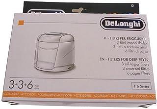 DELONGHI - KIT FILTRE 6 HUILE 3 VAPEUR 3CHARBON ACTIF POUR FRITEUSE DELONGHI