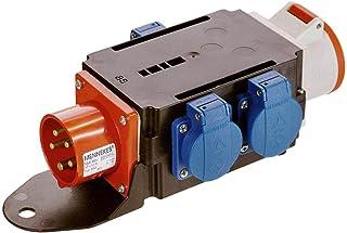 as - Schwabe MIXO Adapter / Stromverteiler BRIGACH – CEE-Stecker auf 5-polige CEE-Steckdose  3 Schuko Steckdosen – Robuster Baustellen Starkstrom-Verteiler – IP44 – Made in EU I 60520
