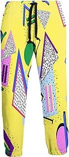 Cyloten Sweatpants Graffiti Funny 80s 90s Retro Neon Men's Trousers Lightweight Jogging Pants Casual Sportswear