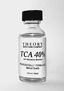 Trichloroacetic Acid 40% TCA Chemical Peel, 1 oz, Medical Grade, Wrinkles, Fine Lines, Freckles, Scars, Age spots