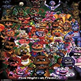 The Amazing choice FNAF-Ultimate Group Mount Bundle Wall Poster Matte Poster 12 x 18 inch Poster Rolled