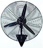 Bastilipo Ventisca Ventilador Industrial de Pared, 160 W, Acero Inoxidable, 3 Velocidades, Negro