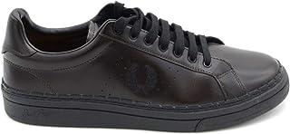 Luxury Fashion   Fred Perry Men MCBI36912 Black Leather Sneakers   Season Outlet