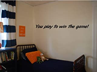 EvelynDavid You Play to Win The Game Wall Decal Herm Edwards Quote Kids Room Sports Decals Sports Quotes Motivational Quotes Locker Room Decor