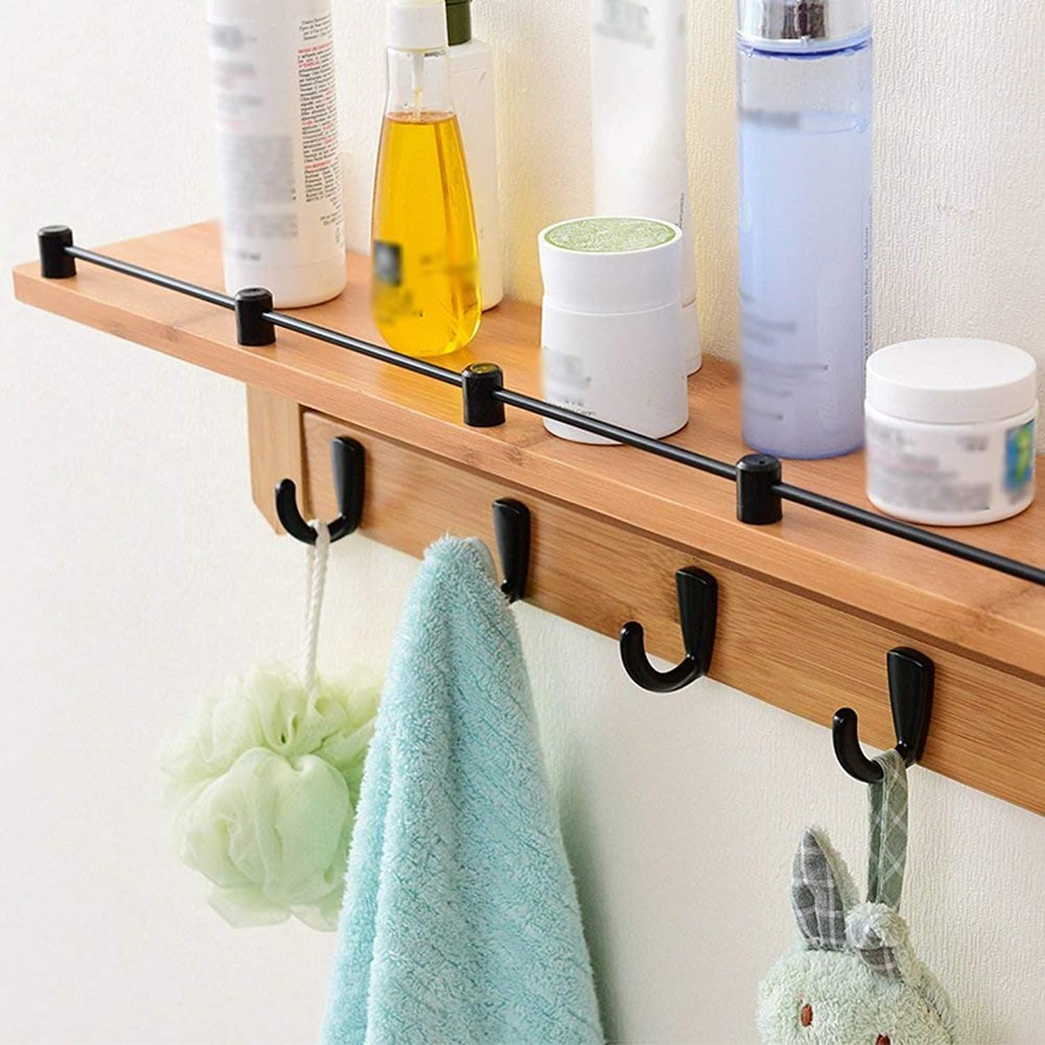 XQY Coat Racks Clothes Stand Clothes Hook Solid Wood Wall Shelves Hook up Stable and Durable,Clothes Tree