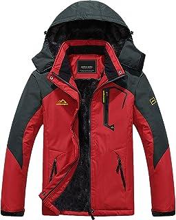 Men's Winter Coats Waterproof Ski Snow Jacket Warm Fleece...