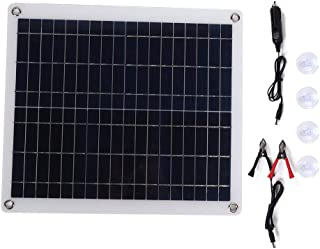 Suchinm 20W 12V Portable Solar Panel Mini Polysilicon Solar Panel Portable Flexible Solar Panel Charger for Outdoor