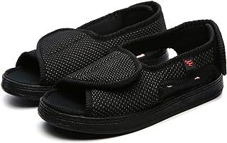 Unisex Open Toe Diabetic Recovery Slippers, Summer Adjustable Orthopedic Wide Width Walking Shoes, Feet Swollen Fat Deform...