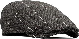 besbomig Piatto Berretto da Uomo Newsboy Flat cap - in Tweed Invernale Irish Winter Coppola Cappello