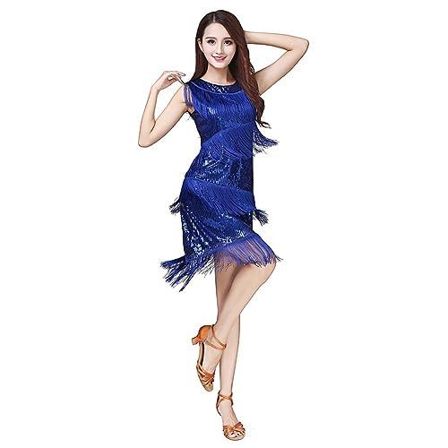 b272625c6 Loveble Ladies Latin Dance Tassel Dress Women Tango Salsa Tassel Skirt Latin  Costume