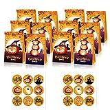 TONAUP Halloween Süßigkeiten Geschenk Taschen, Candy Party Papier Tüten mit Stickern, Halloween...