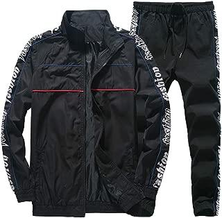 Saigee Tech Men's Sport Coat Jackets+Pants Sets Sports Suit Tracksuit