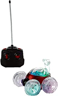 Mindscope Turbo Twisters RED 27 MHz Bright LED Light Up Stunt RC Remote Control Vehicle