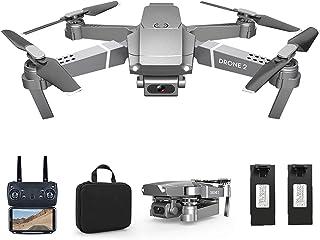 Drone avec Caméra 4K HD Télécommande WiFi APP Quadricoptère Temps de Vol 30 Minutes 2Batteries Mode sans Tête avec Contrôl...
