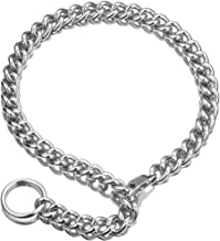 Womens Choker Chain Cuban Link Necklace with Tail 0.4inch wide Punk Rock Stainless Steel Gift for her Sexy Pendant Xxxtentacion Necklace