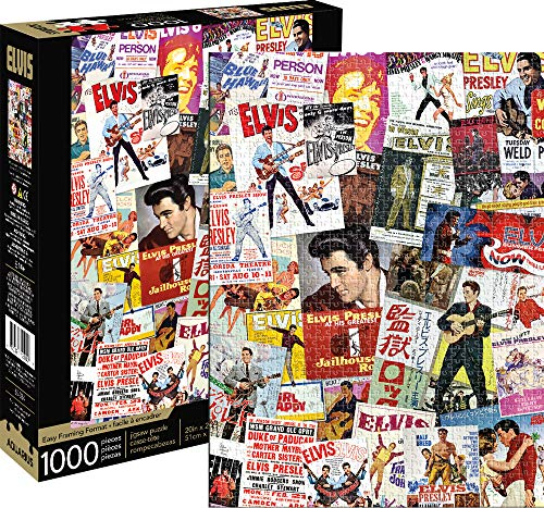 Elvis Presley Movie Poster Collage 1000 Piece Jigsaw Puzzle