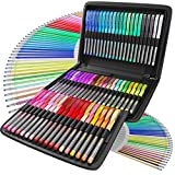 Nylea 100 Pack Glitter Gel Pens for Adult Coloring, Kid Doodling, Scrap-Booking, Drawing, Writing, Bullet Journaling and Sketching with Silk Travel Case