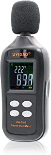 Kiamitor Decibel Meter, UA-961 Digital Sound Level Meter with Noise Measurement Reader Range 35-135dBA, Max/Min/Hold Data, Fast/Slow Mode, LCD Backlight Display