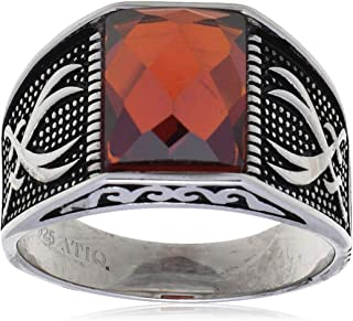 Atiq Mens Sterling Silver Fashion Ring
