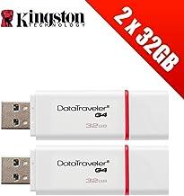 2 Unidades USB 3.0 Kingston Technology de 32 GB DataTraveler (Paquete de 2 Unidades DTIG4/32 GB).