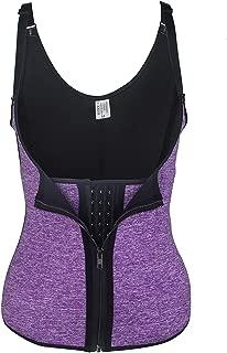 TINGLU Women's Sport Sweat Waist Trimmer Spiral Steel Boned Shaper Exercise Wrap Belt Stomach Fat Burner for Weight Loss