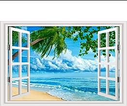 Wangbw Playa Y Cielo Nublado Mar Murales De Pared Vinilos Decorativos Vinilos Para Ventanas Vinilos Decorativos Decoración Del Hogar 50 X 70Cm