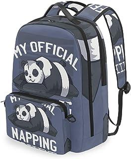 Mochila con bolsa cruzada desmontable, set de siesta panda para computadora mochilas de viaje, senderismo, camping