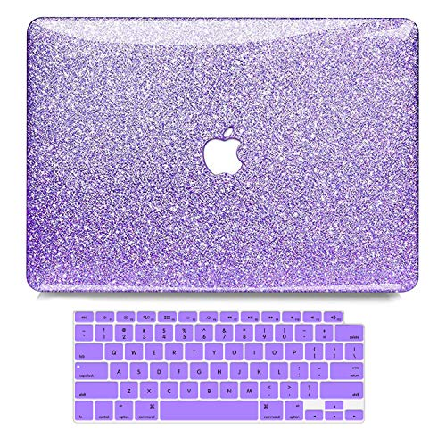 MacBook Air 13 Inch Case 2020 2019 2018 Release A2179 A1932, B BELK Shining Sparkly Crystal Smooth Slim Scratch Resistant PC Hard Case with Keyboard Cover for Mac Air 13.3 with Retina & Touch ID