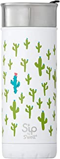 S'ip by S'well 20316-A18-04710 Stainless Steel Travel Mug, 16oz, Looking Sharp