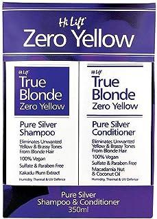 Hi Lift True Blonde Zero Yellow Pure Silver Shampoo and Conditioner 2-Pieces, 2 count