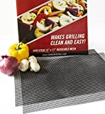 Grill Mats: Extra Large BBQ Mat Replaces Vegetable & Fish Grill Basket, Pizza Screen   Heavy Duty...