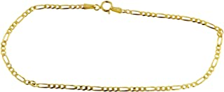 10K Yellow Gold 3.0MM Figaro 3+1 Link Chain Necklace - Multiple lengths available-Made in Italy