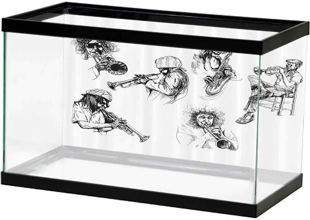 bybyhome Jazz Music Decor Collection 3D Max 72% Super special price OFF Aquarium Sketc Backdrops