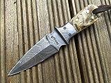 Piccolo coltello da cacciain acciaio damasco