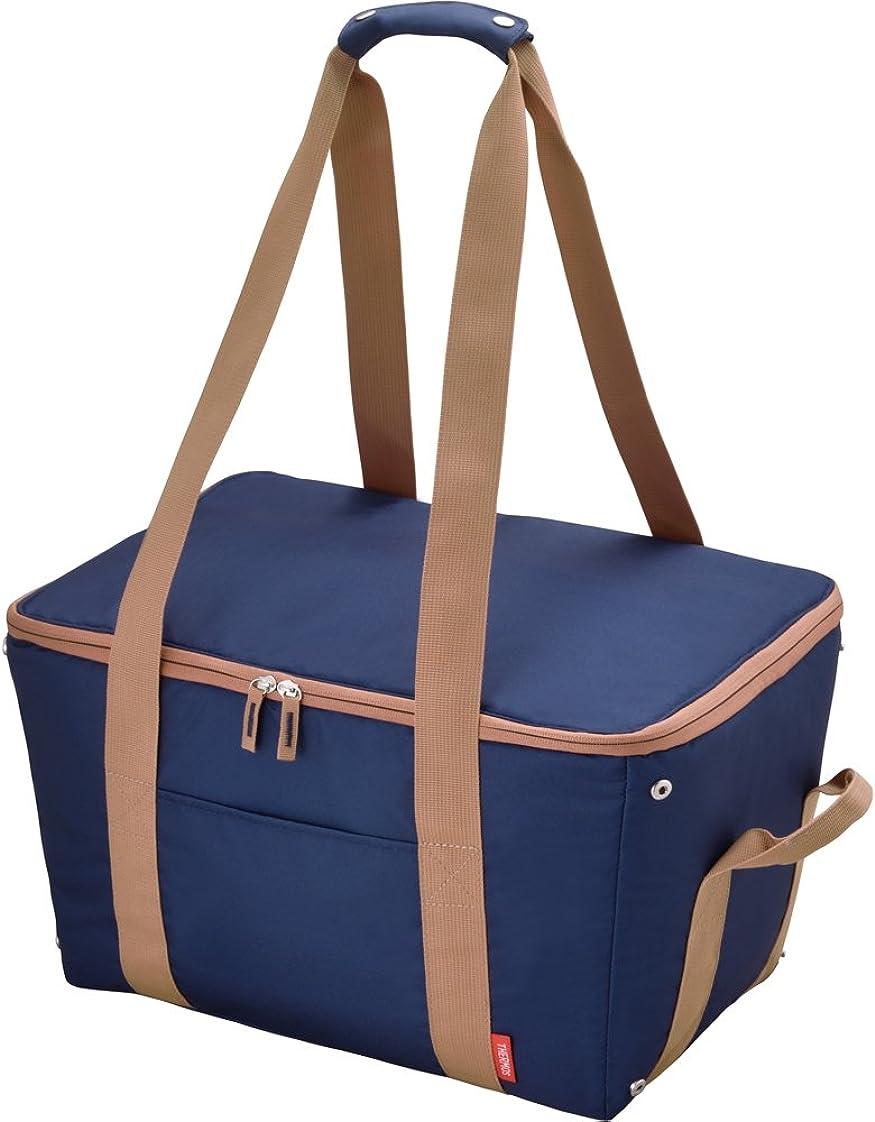 手つかずのグラフィックマンハッタンサーモス 保冷 買い物カゴ用バッグ 約25L ブルー REJ-025 BL