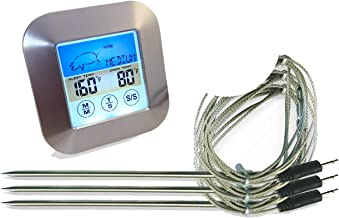 Color Oven Thermometer With 3 Probes | Waterproof Temperature Probes | Ideal Meat..