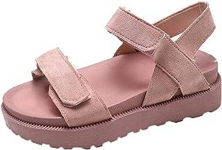 946be35be08c Clearance!2027 DDKK New Summer Women s Roman Shoes OpenToe Flat Beach Shoes  Belt Buckle Ladies