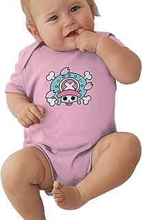 Unisex Baby Tony Tony Chopper Logo Cotton Short-Sleeve Onesies