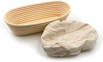 10inch Banneton Rattan Bread Proofing Basket Oval Cane Baking Bowl Brotform Bread Dough Proofing Bowl Proving Rising Bakin...