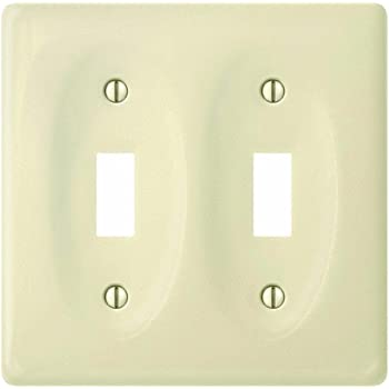White Porcelain 2 Toggle Wall Plate//Switch Plate Creative Accents 982CW