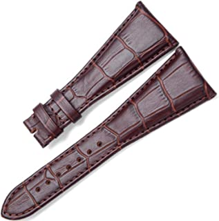 [Richie Strap] 26mm 28mm Black/Brown Leather Watch Strap Band Fit for Bvlgari Assioma Series AA48C13GLDCH AA48BSLDCH
