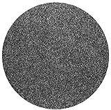 havatex Rasenteppich Kunstrasen mit Noppen 1550 g/m² rund - Anthrazit, Blau, Rot, Braun, Grau oder Beige   wasserdurchlässig   Balkon Terrasse Camping, Farbe:Anthrazit, Größe:100 cm rund