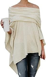 Abetteric Women Irregular Cut Out Shoulder Baggy Style Blouse Tunic Tops
