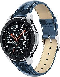 ZSZCXD متوافق مع ساعة سامسونج جالاكسي 42 مم / 46 مم، سوار معصم بديل من الجلد الطبيعي لساعة سامسونج جالاكسي (42 مم) SM-R810...